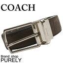 コーチ COACH ファッション 小物 メンズ ベルト ハーネス リバーシブル シグネチャー レザー ベルト F55158 MAH マホガニー コーチ COACH メンズ レディース UUU MMM 02P01Apr16