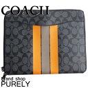 コーチ COACH バッグ アウトレット クラッチ バッグ メンズ レディース レザー テック ポートフォリオ 書類入れ F66311 AL0 チャコールグレーxオレンジ コーチ COACH メンズ レディース UUU MMM 02P01Apr16