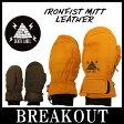 15-16 DEATH LABEL / デスレーベル IRONFIST MITT LEATHER ミトン グローブ 革 手袋 メンズ レディース スノーボード