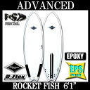 "5 6 1 surfboard advance / ADVANCED ROCKET FISH '11 ""'"" D-FLEX carbon"