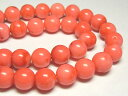 サンゴ(珊瑚) 連販売 ピンク ラウンド 約10mm(染色) アクセサリーパーツ パワーストーン ビーズ さんご サンゴ コーラル 山珊瑚 海竹
