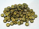 波ロンデル アクセサリーパーツ カラフルタイプ (ゴールド×ジェットカラー) 約6mm (約100個セット)