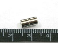 マグネットクラスプアクセサリーパーツプレーンタイプ約9mmロジウム(1ペア)写真2