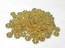 スペーサー フラワー 約6mm ゴールド (10個セット)