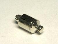 マグネットクラスプアクセサリーパーツ差込式ロジウム約15×6mm(1個セット)写真1