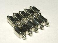マグネットクラスプアクセサリーパーツ差込式ロジウム約15×6mm(1個セット)写真3