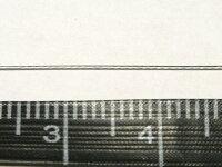 手芸用ワイヤー(ナイロンコーティング)シルバーアクセサリーパーツ約100mワイヤー太さ約0.38mm写真3