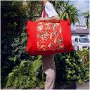 ショッピング布団 【お昼寝布団バッグ】【入園準備】【レギュラーサイズ】レッドきのこ手作りお昼寝布団バッグ