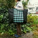 ショッピングアーガイル 【布団バッグ】【入園準備】【レギュラーサイズ】アーガイル柄(エメラルドグリーン)手作りお昼寝布団バッグ