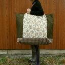 ショッピングふとん 【布団バッグ】人気のかわいいうさぎプリント!【入園準備】【特大サイズ】洗える!リースうさぎ手作りお昼寝布団バッグ