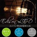 エジソン型LED電球 E26 電球色  led