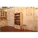 本棚 カントリー家具 薄型 完成品 大容量 北欧 無垢 パイン材 おしゃれ カントリー調