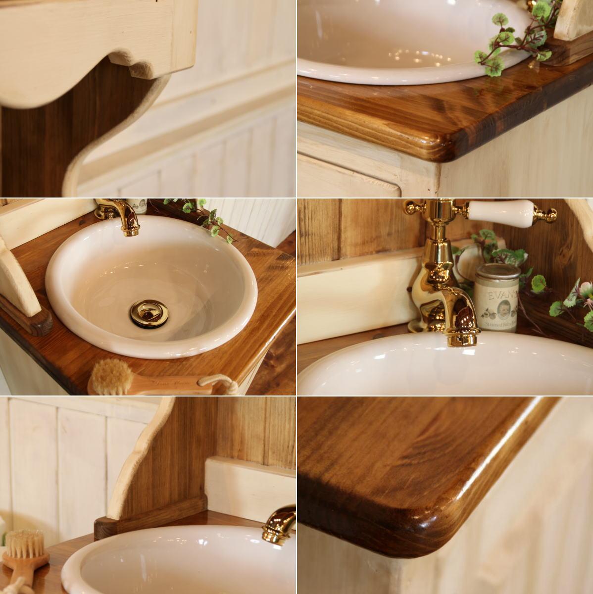 洗面台 幅40 日本製 鏡 収納 カントリー ...の紹介画像2