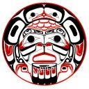 カナダ 先住民 ネイティブ インディアン 雑貨 TATTOO 刺青 ★ タトゥシール BIG EAGLE MOON イーグルムーン
