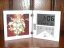 録音再生機能付き目覚まし時計レコーダークロック フォトフレーム付きWHITE