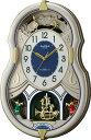 【からくり時計、壁掛け時計】美しいメロディーで時を知らせる!アミュージング時計 電波時計 スモールワ...