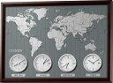 ワールドタイムN シチズン掛け時計 4MWA01-006 世界時計
