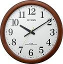 シチズン 掛け時計 大型 木枠 オフィス 電波掛け時計 8MY548-006 シチズン時計 壁掛け電波時計 CITIZEN 名入れ