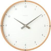 INHOUSEインハウス掛け時計ラミネートNW19TBビーチウッド/ホワイト30cm