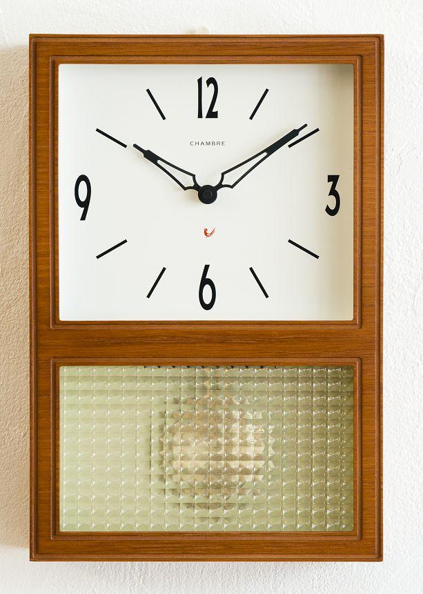 CHAMBRE掛け時計 GLASS振り子時計  CH021CB