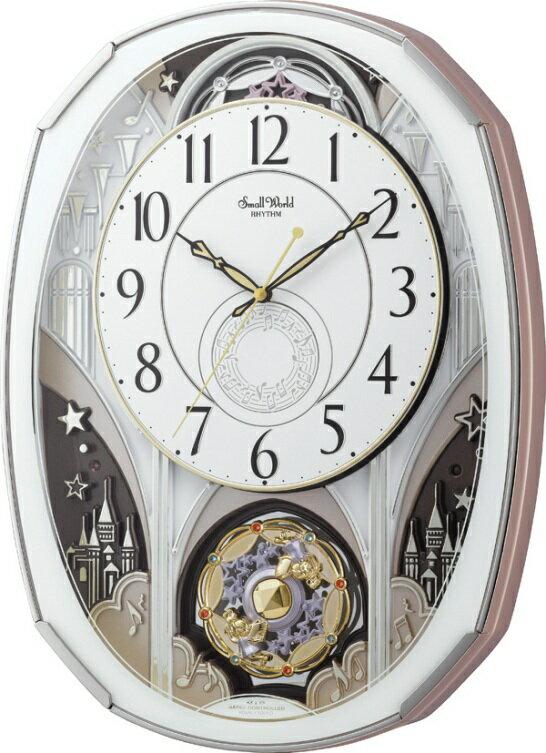 【からくり時計】名入れ 壁掛け時計 スモールワールド ノエルM 4MN513RH03 からくり時計電波  からくり【楽ギフ_包装】【楽ギフ_のし】【楽ギフ_のし宛書】【楽ギフ_メッセ入力】【楽ギフ_名入れ】