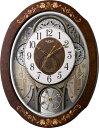 壁掛け時計 掛け時計 名入れ スモールワールド ティアモ 電波時計 4MN521RH06 リズム時計 掛け時計 音楽
