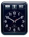 【TWEMCO】 トゥエンコ カレンダー電波時計 RC-12Aブラック TWEMCO掛け時計