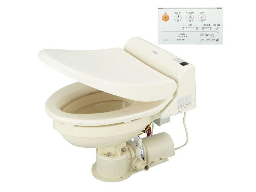 日立ウォシュレット仕様(配管金具付き38mm)オートマチック電動マリントイレ 12V 24V