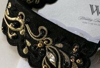 新作付け襟刺繍レースストーンブラックつけ襟丸襟つけエリ付けえり付けエリ♪フラワーチョーカー【メール便2点まで】