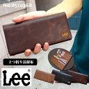 【Lee】リー 刺繍 本革 二つ折長財布【0520368】メ...