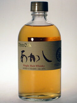 AKASHI White oak single malt 5 years Sherry Finish 45% 50cl by Eigashima Shuzo