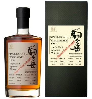 KOMAGATAKE MARS Single Cask Vintage 1985 60.7% 70cl Sherry Cask No.#162 Shinshu Mars Distillery