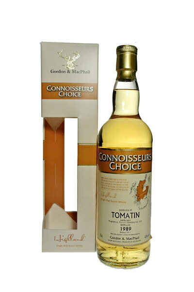 TOMATIN 1989 43% 70cl Connoisseues Choice by Gordon&Macphail