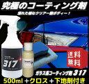 コーティング剤 317 (500ml施工フルセット)ガラスコーティング剤 ワックス 車 ガラスコート 新車 バイク 全色対応 洗車【送料無料】
