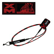 XM SURFBOARD LEASH/CHECKERED COMP 6ft made in U.S.A.