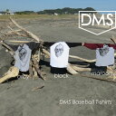 DMS/ディーエムエスベースボールTシャツ/ラグランスリーブ/スカル/Unisex