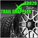 KMC XD820 GRENADE 17x8.5J±0 127 5穴 サテンブラックマシーンド&LT295/70R17 NITTO TrailGrappler ニットー タイヤ トレイルグラップラー M/T 4本セット