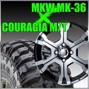 MKW MK-36 16x8J±0 114.3x5穴 73.1 ダイヤカットグロスブラック&235/85R16 フェデラル FEDERAL COURAGIA M/T クーラジア MT ランクル等