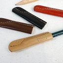 革 を使用した高級感ある 鉛筆キャップ鉛筆を素敵に演出しながら保護します♪