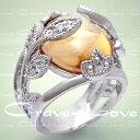 ショッピングデザイン 素敵なデザインの シャンパン フラワーリング 指輪 フローラル 女性 レディース リング 【6月・11月誕生石 星座石 双子座 獅子座 射手座 乙女座】【 Crave-Love クレィヴ ラブ 】