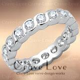 ウェーブ デザイン フルエタニティ リング/指輪ETERNITY RING/永遠の愛 エターナルリング【 Crave-Love Costume Jewelry Bijoux Paris France