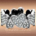 ハート パヴェ エタニティ ステンレス リング / 指輪 女性 レディース リング 大きめ 大きいサイズ もあります。トラベルジュエリー 誕生日プレゼント 結婚式にも 【 Crave-Love Jewelry bijoux Paris 】