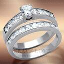ハーフ エタニティ ステンレス 2連 リング/指輪/st03 2連リング/2本セット/2個組/重ね付け/ キュービックジルコニア(ダイヤモンド色)/ プラチナ色 レディース リング 大きいサイズ もあります。 トラベルジュエリー・結婚式・誕生日プレゼントにも・・