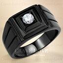 【メンズリング 男の指輪 メンズアクセサリー】シンプル デザイン ブラック ステンレス メンズ リング RM33 おしゃれ 黒色 BLACK | 指輪 ボリューム感 幅広 立て爪 ファッション リング 大きいサイズもあります。【 Crave-Love Bijoux Paris 】