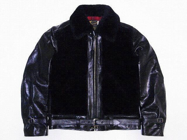 LASKIN LAMB[ラスキンラム] ベアージャケット 熊ジャン LL80462 グリズリージャケット BEAR JACKET (BLACK×BLACK) 送料無料 代引き手数料無料