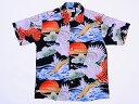 SUN SURF[サンサーフ] アロハシャツ スペシャルエディション HAWK LIGHTED BY THE RISING SUN 和柄 SS36656 (BL...