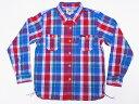 Pherrow's[フェローズ] ネルシャツ 17W-720WS ヘビーフランネル チェック (レッド) 送料無料 代引き手数料無料 【RCP】