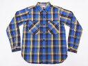 WAREHOUSE[ウエアハウス] ネルシャツ D柄 3104 フランネルシャツ FLANNEL SHIRTS (ブルー) 送料無料 代引き手数料無料 【RCP】