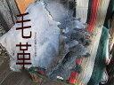 シープスキン(天然物)【毛皮】グレー(灰色)染め【ファー】インテリア/ラグ/クラフト材料/ギフト/インディアン