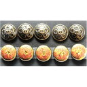 学生服用表ボタン 学ラン/短ラン長ラン用 裏彫りボタン 釦 釦(ボタン)セット アンティック ドラゴン/龍魂